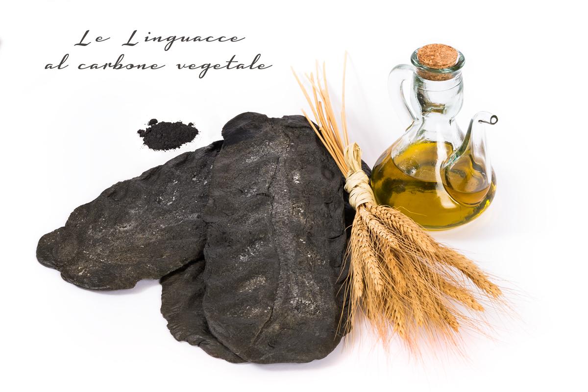 lingue di suocera, carbone vegetale, le linguacce